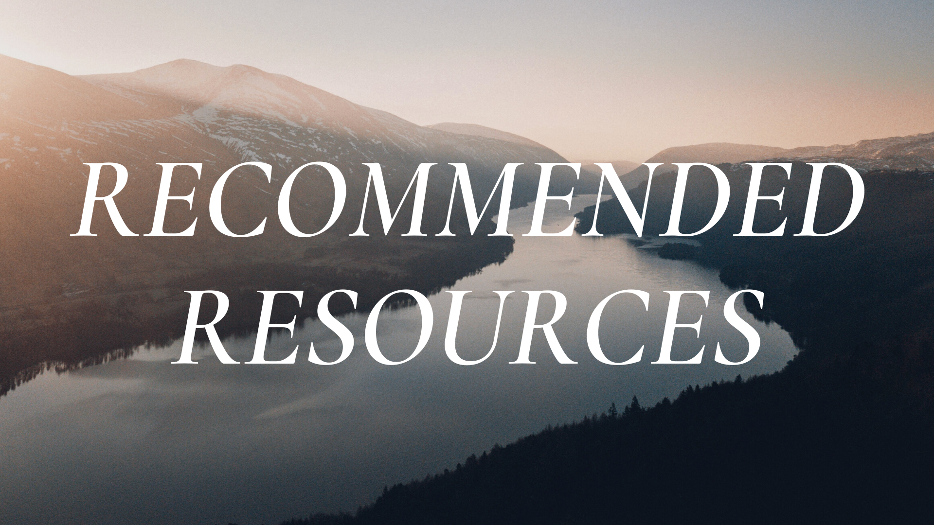 Recommended Resources: January 11, 2021