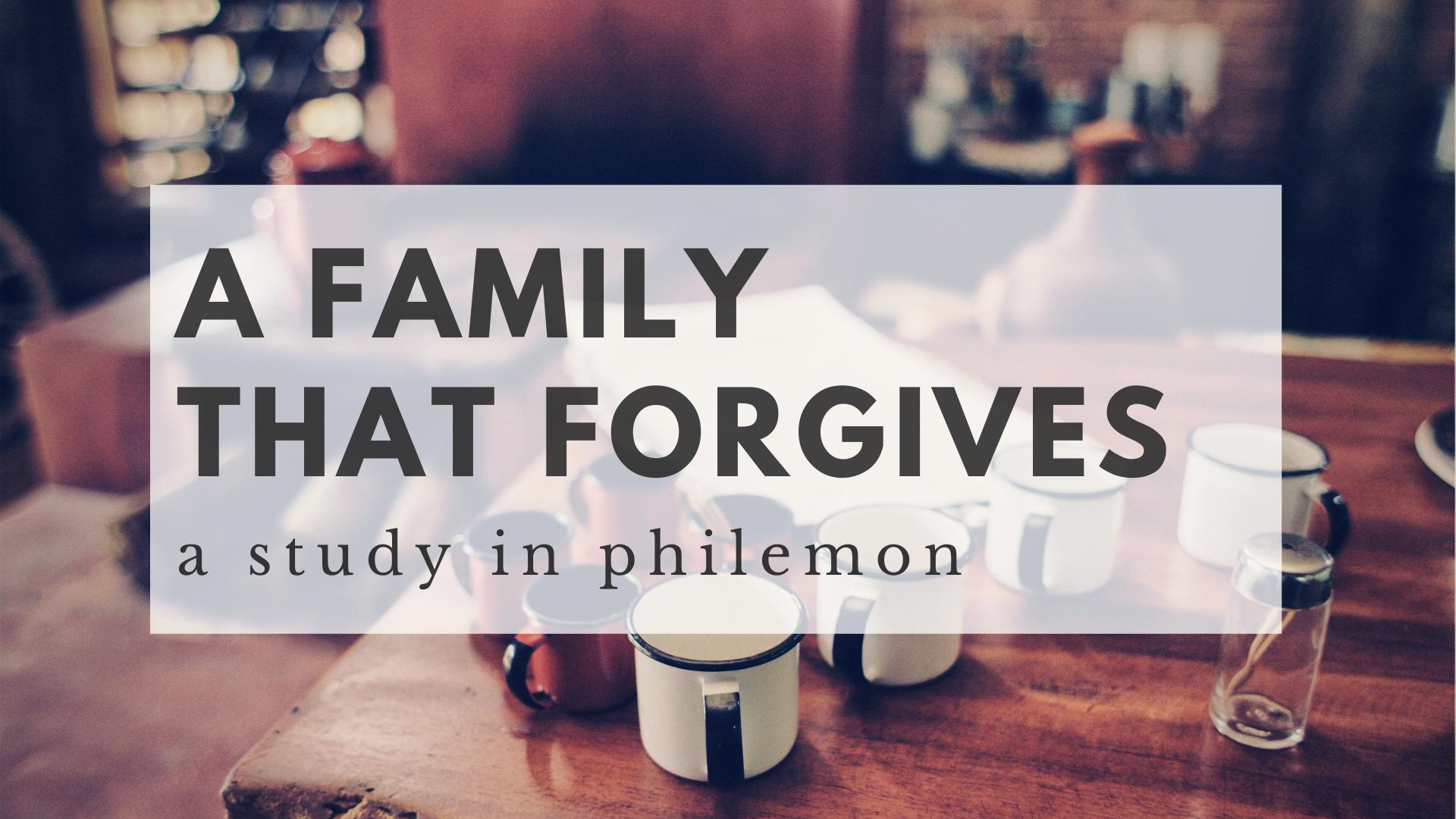 Gospel-Fueled Forgiveness Part 2 (Philemon 17-25)