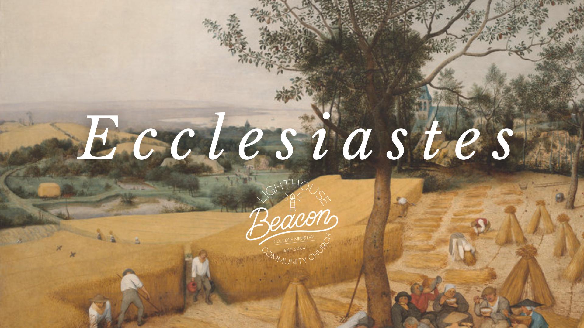 The Pursuit of Contentment (Ecclesiastes 5:8-6:9)